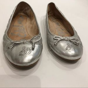 Sam Edelman Shoes - Sam Edelman Becka quilted Ballet Flats Silver Sz 7